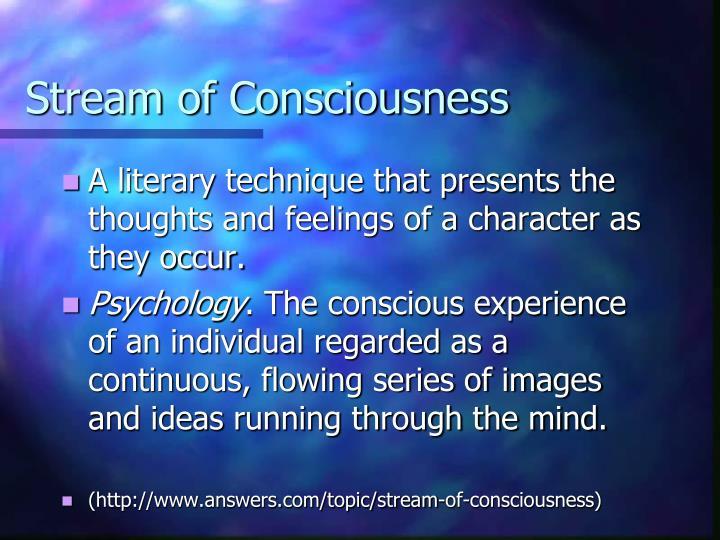 stream of conscious writing