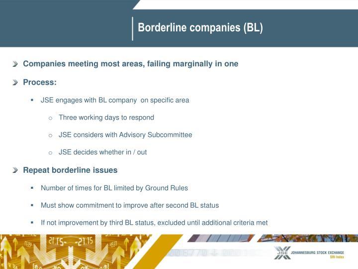 Borderline companies (BL)