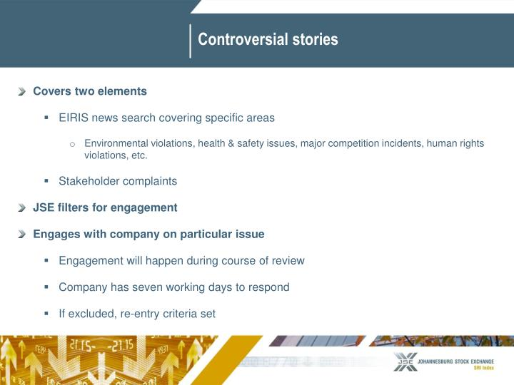 Controversial stories