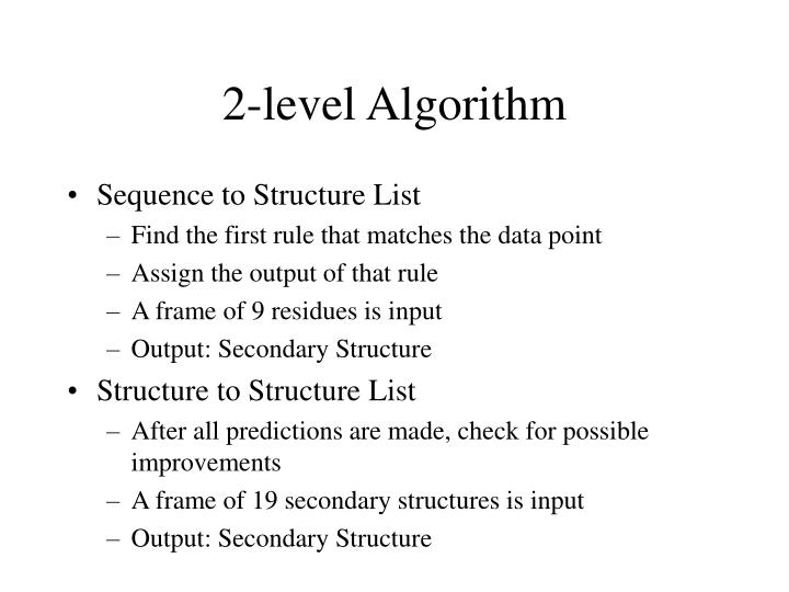 2-level Algorithm