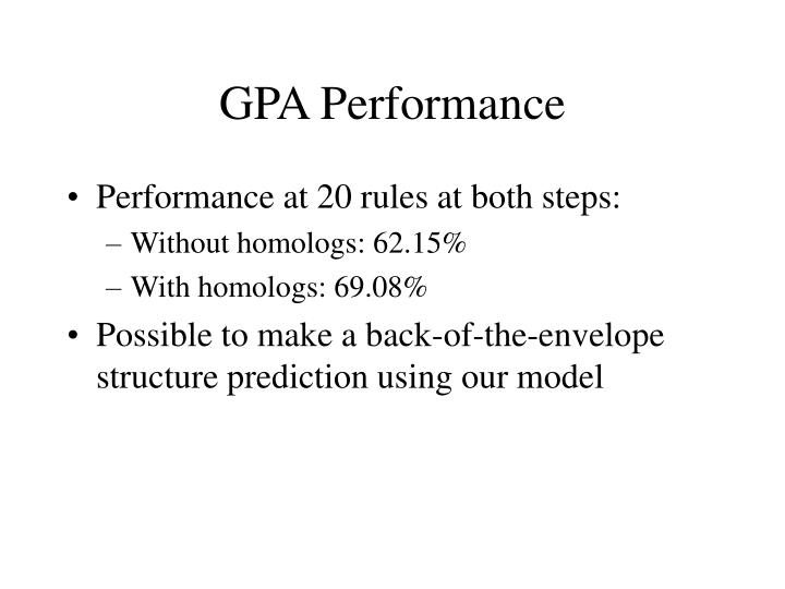 GPA Performance