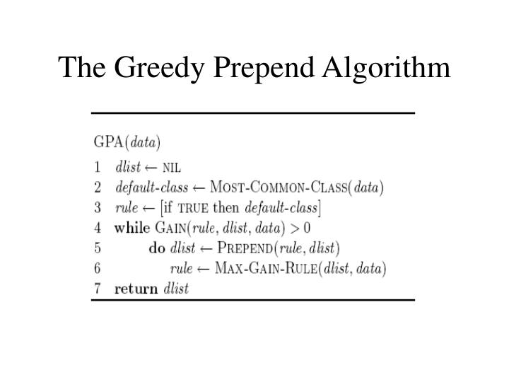 The Greedy Prepend Algorithm