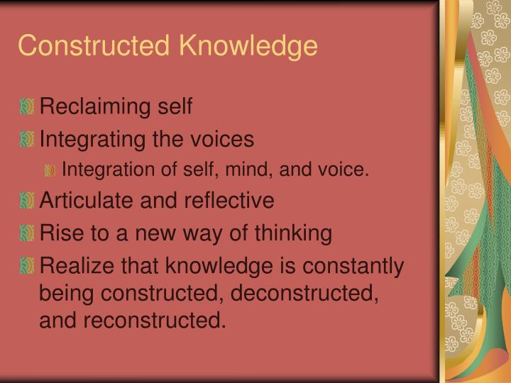 Constructed Knowledge