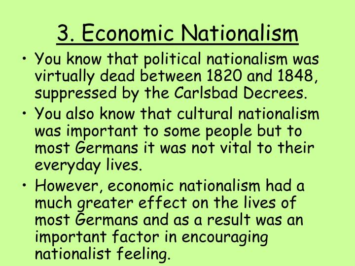 3. Economic Nationalism