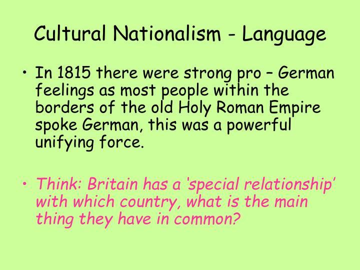 Cultural Nationalism - Language
