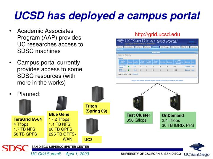 UCSD has deployed a campus portal