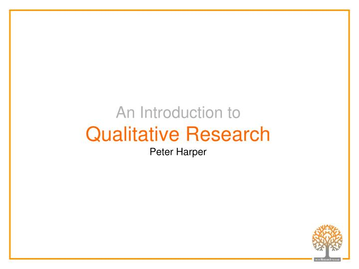 Dissertation Research Peters Falsify