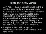 birth and early years