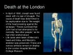death at the london