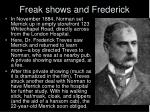 freak shows and frederick