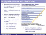 do organizations get it yet email policies