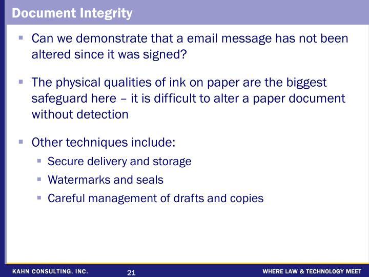 Document Integrity