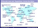 e records laws and regulations across the globe