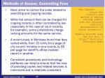 methods of access controlling fees