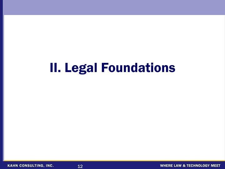 II. Legal Foundations