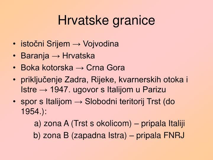 Hrvatske granice