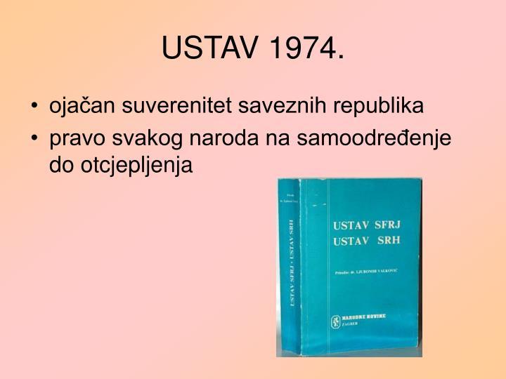 USTAV 1974.