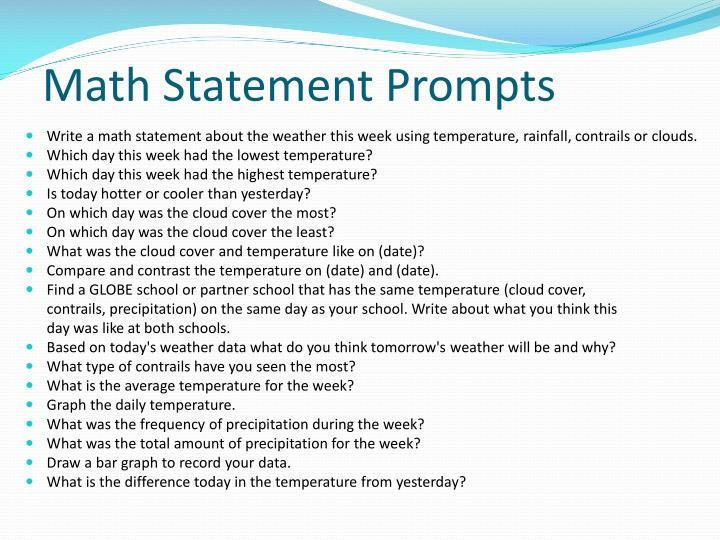 Math Statement Prompts