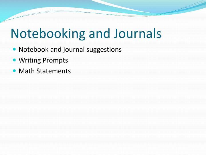 Notebooking and Journals