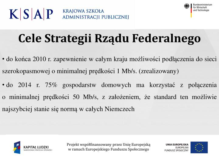 Cele Strategii Rządu Federalnego