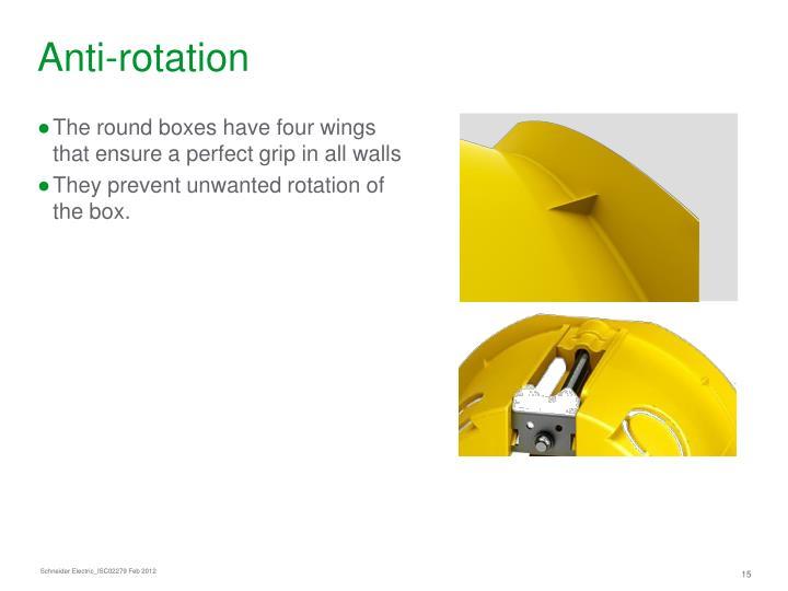 Anti-rotation