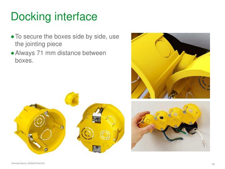 Docking interface