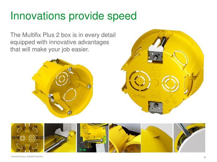 Innovations provide speed