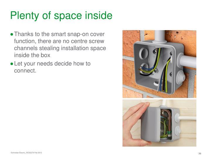 Plenty of space inside