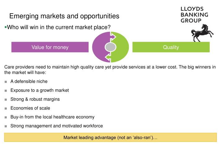 Emerging markets and opportunities