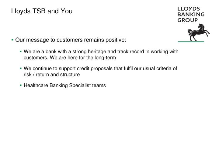 Lloyds TSB and You