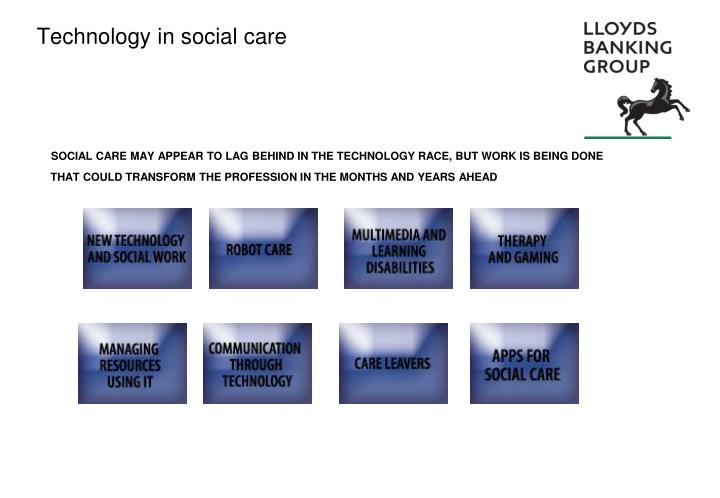 Technology in social care