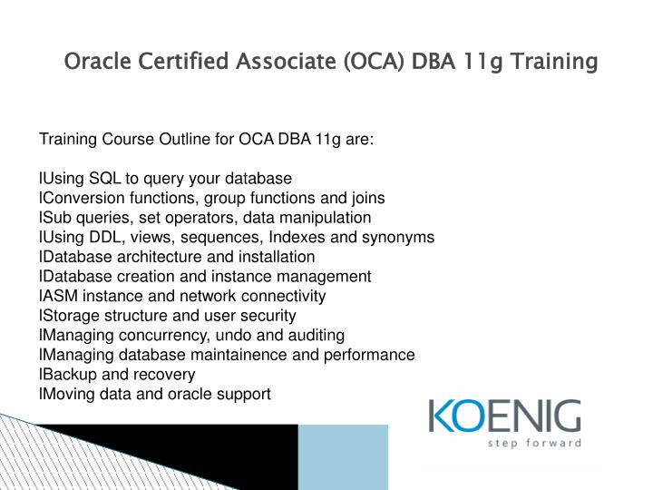Oracle Certification Testing