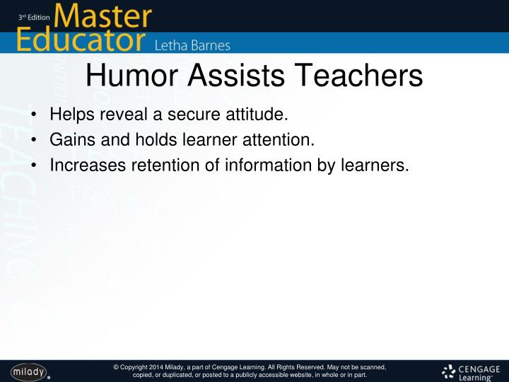 Humor Assists Teachers