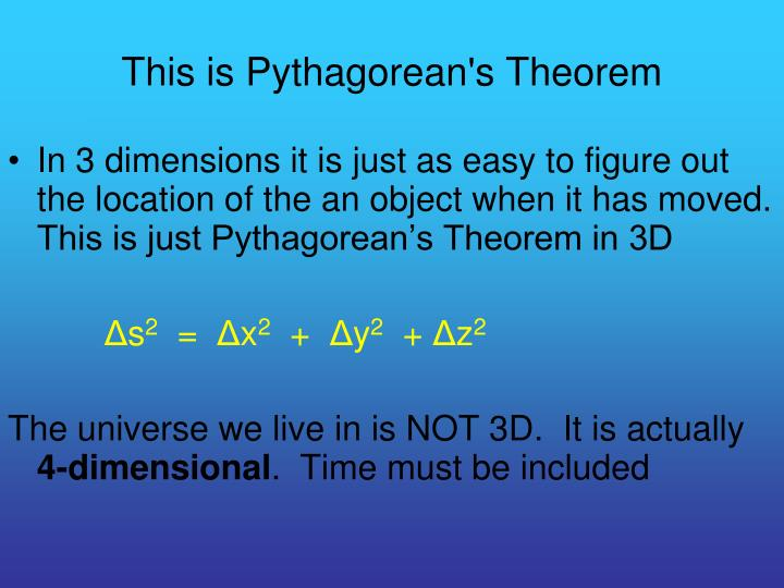 This is Pythagorean's Theorem