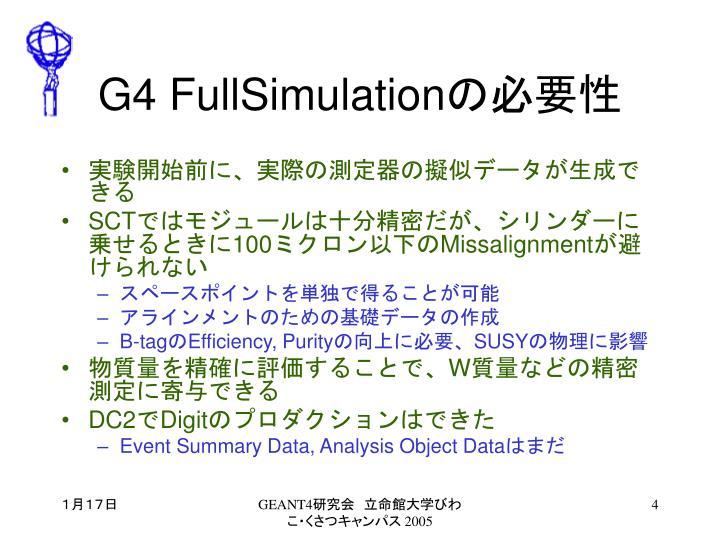 G4 FullSimulation