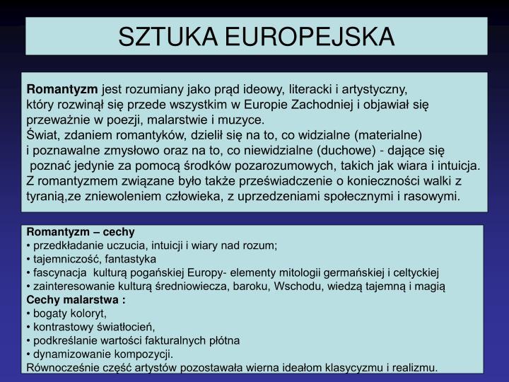 SZTUKA EUROPEJSKA