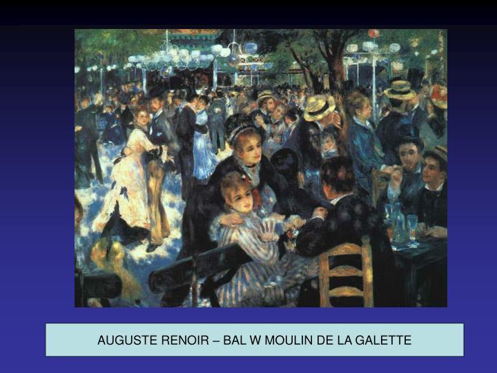 AUGUSTE RENOIR – BAL W MOULIN DE LA GALETTE