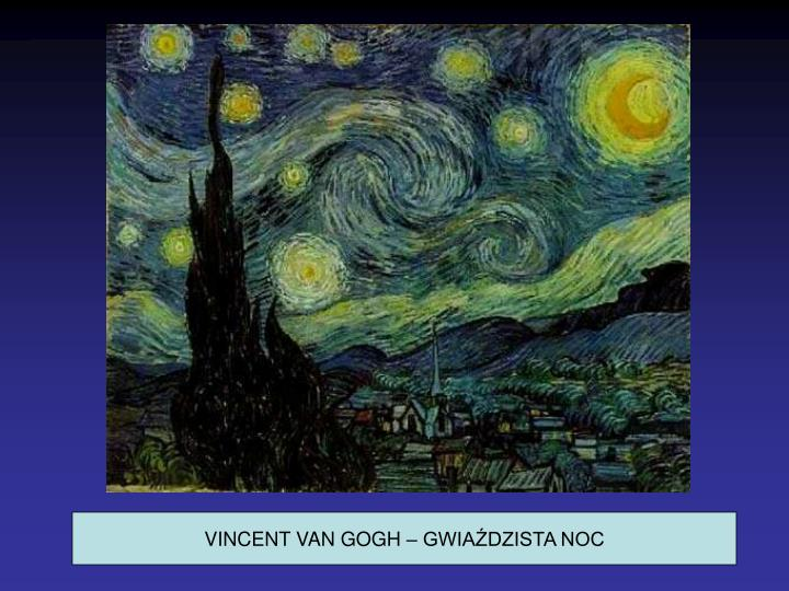 VINCENT VAN GOGH – GWIAŹDZISTA NOC