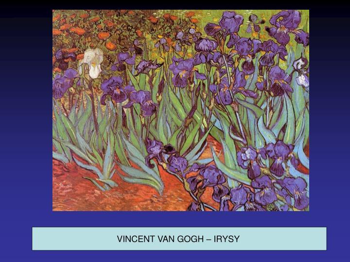 VINCENT VAN GOGH – IRYSY