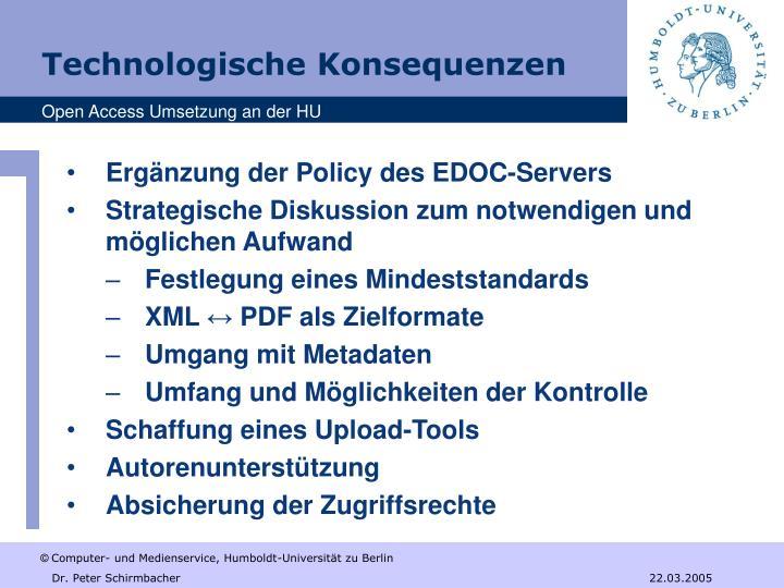 Ergänzung der Policy des EDOC-Servers
