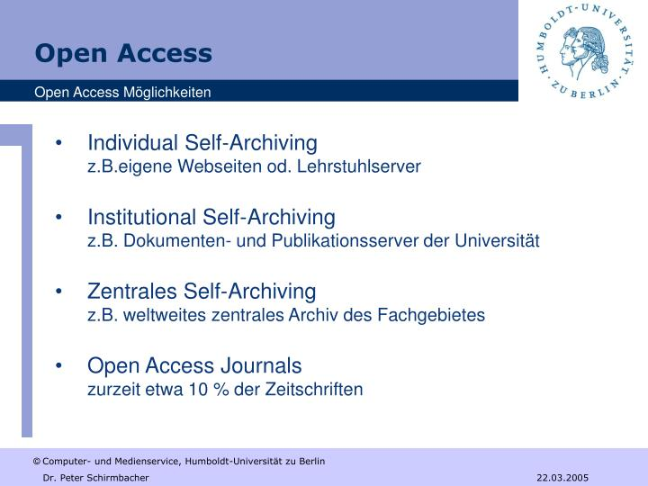 Individual Self-Archiving