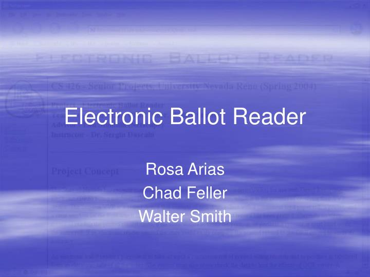 Electronic Ballot Reader