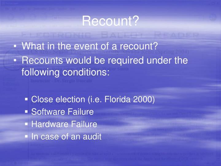 Recount?