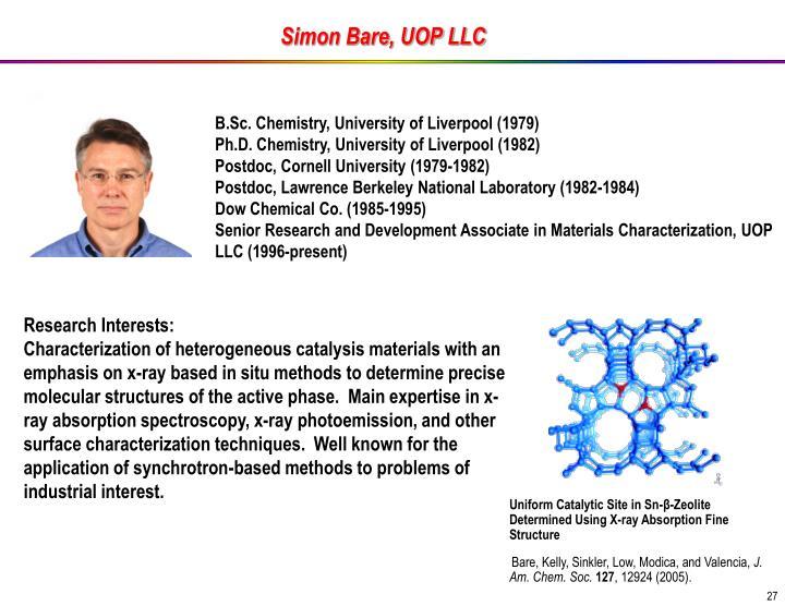 Simon Bare, UOP LLC