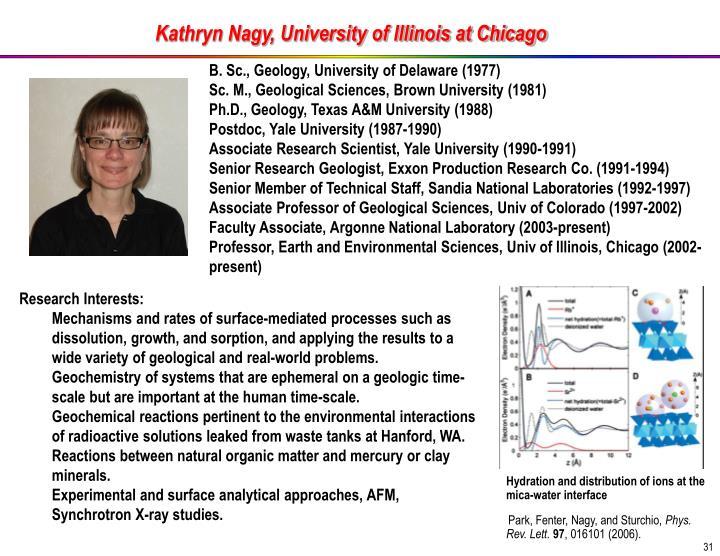 Kathryn Nagy, University of Illinois at Chicago