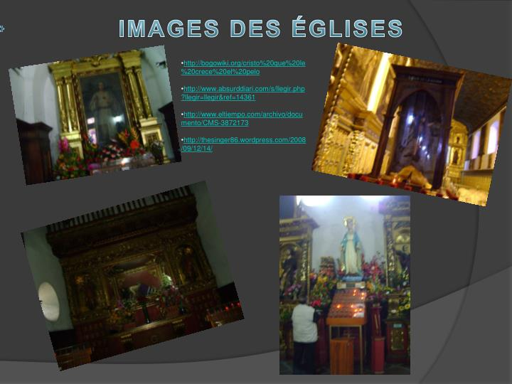 IMAGES DES ÉGLISES