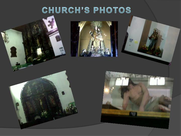 CHURCH'S PHOTOS