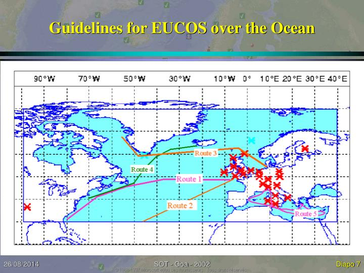 Guidelines for EUCOS over the Ocean