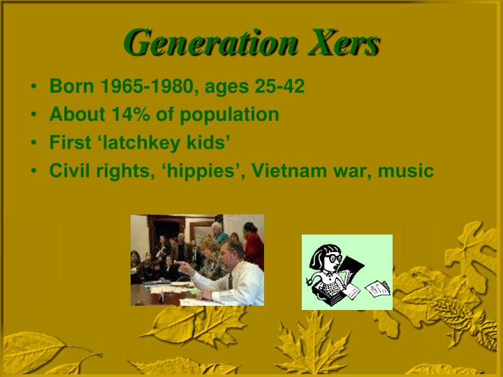 Born 1965-1980, ages 25-42