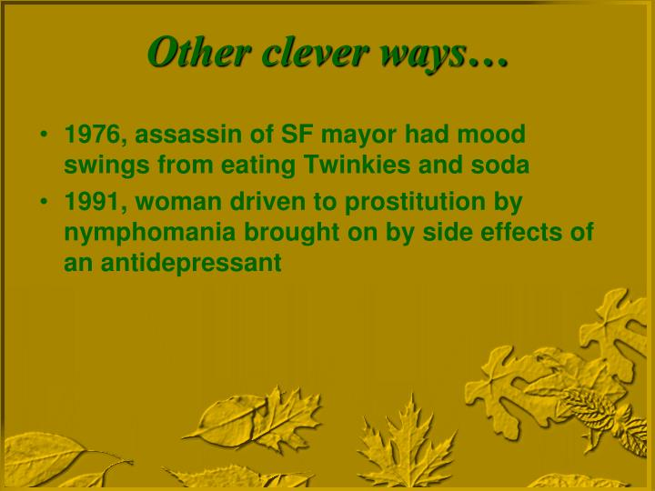 1976, assassin of SF mayor had mood swings from eating Twinkies and soda